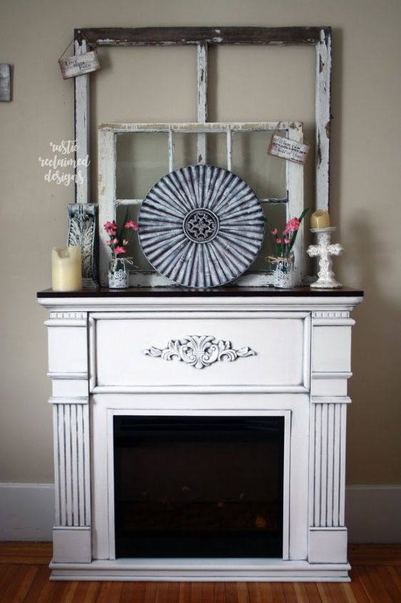 farmhouse chic fireplace makeover