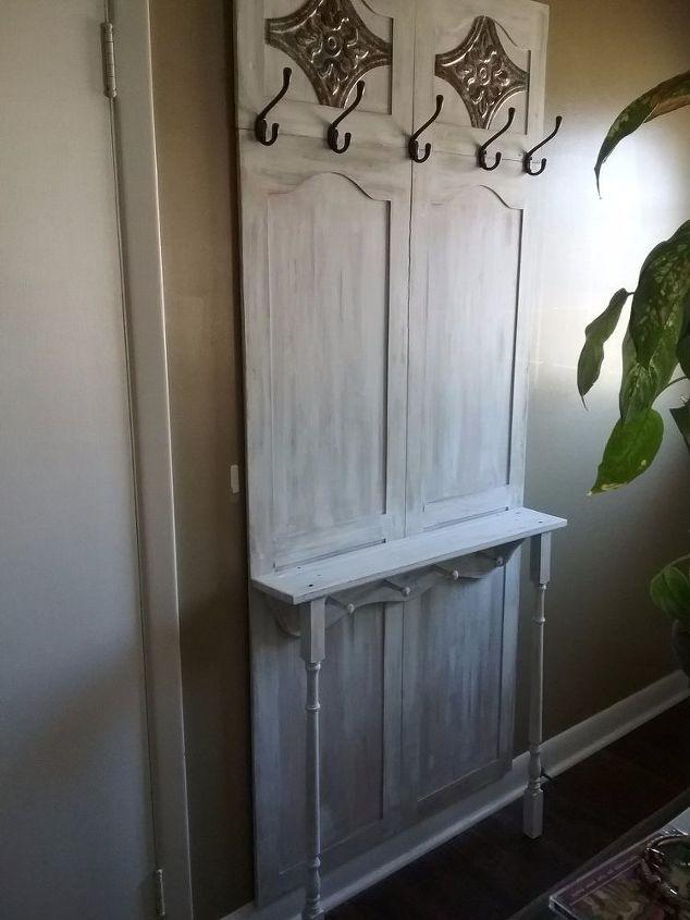 cupboard doors turned hall tree