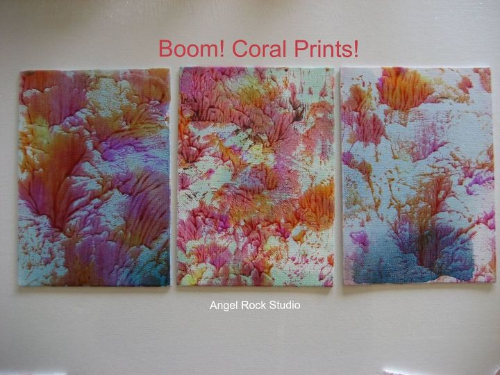 coral prints using unicorn spit