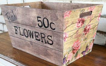 Kmart Wooden Box Hack for Spring