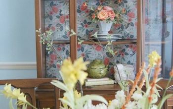 China Cabinet Makeover Without Painting