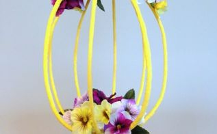 diy crepe paper wrapped wire centerpiece