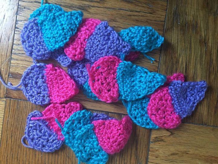 crochet ice cream cone garland