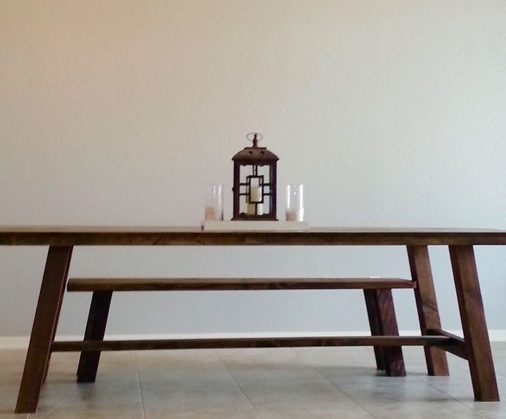 how to build a farmhouse table and bench yes you can do it