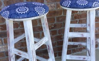 boring bar stools get a fresh spring look