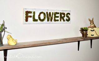 mossy spring flower sign