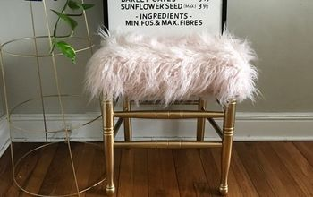 Faux Fur Foot Stool