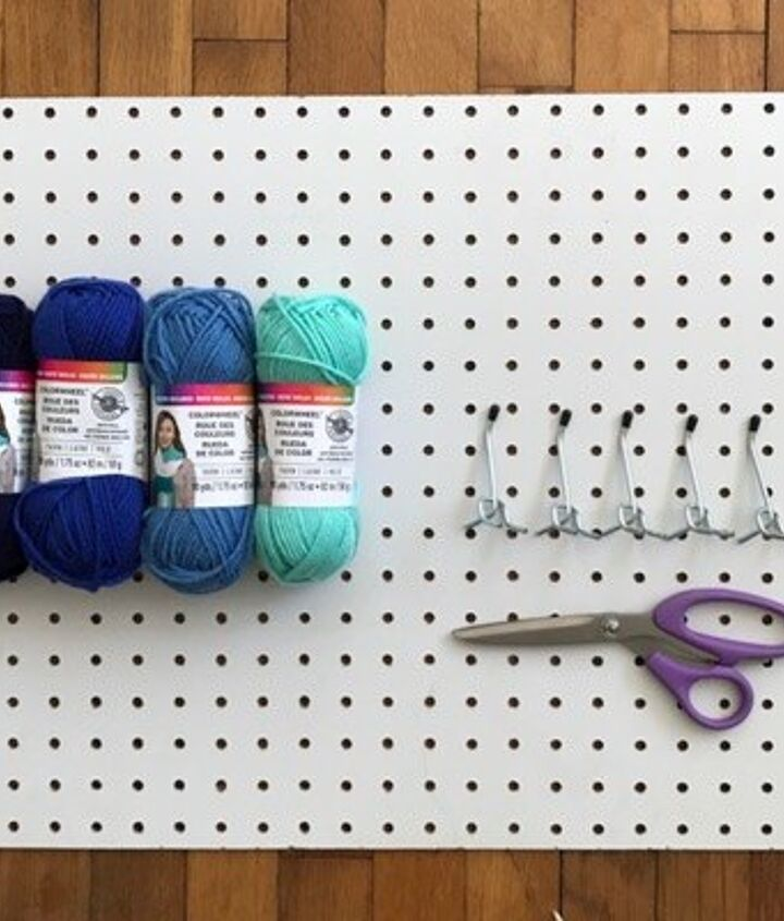 pegboard cross stitch coat hanger