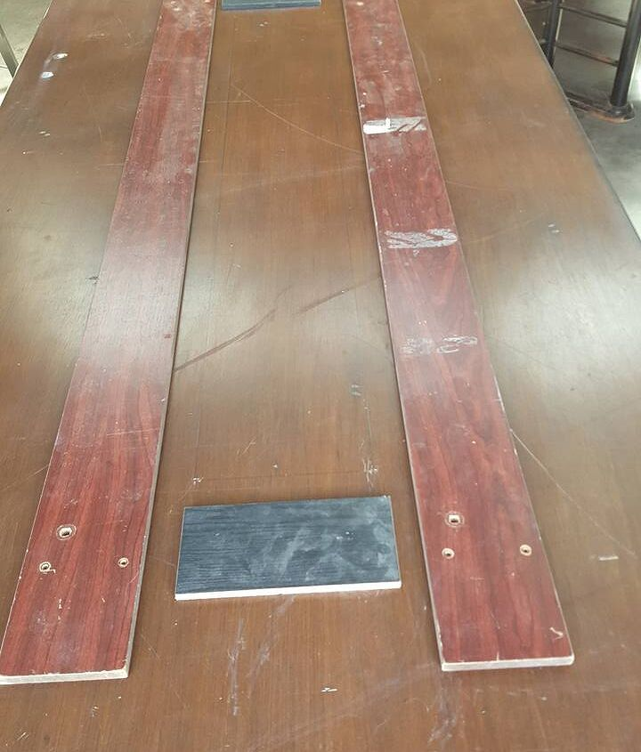 how to turn an old table into a trough party table