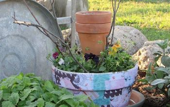 diy decoupage bird feeder planter