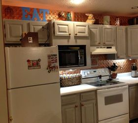 An Update On Painted Kitchen Cabinets And Counter Tops, After 3 Coats Of  Paint And