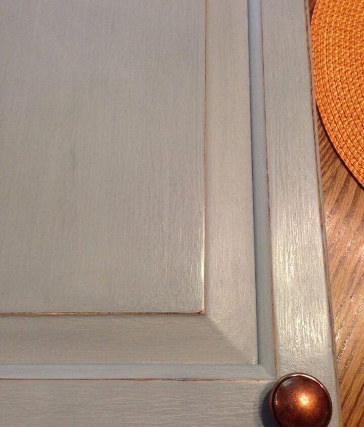 Waxed kitchen cabinet door