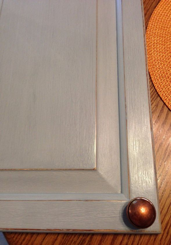 Waxed kitchen cabinet door