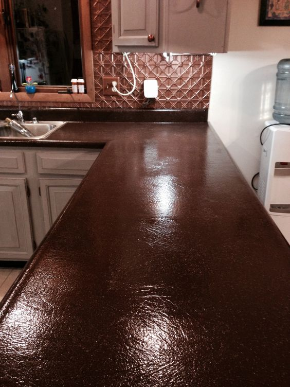 an update on painted kitchen cabinets and counter tops