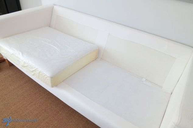 spring cleaning a slipcovered ikea sofa try this at home