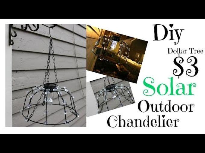 3 dollar tree diy solar outdoor chandelier