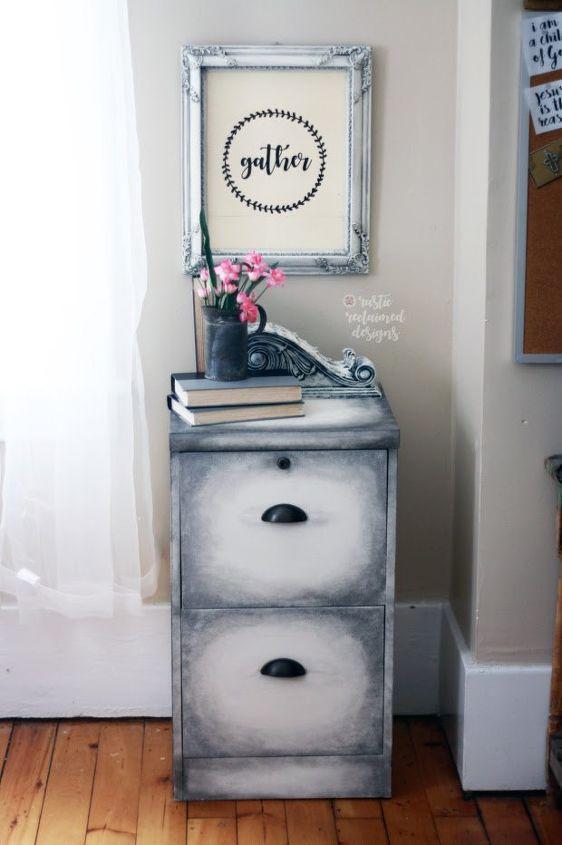 old world finish filing cabinet