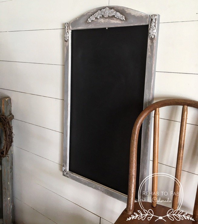 thrift store wall calendar turned into rustic french message board