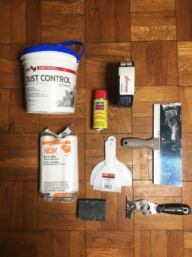 fixing a crack in a wall or ceiling