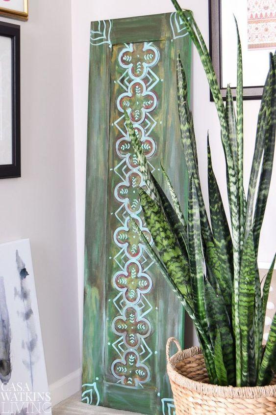 diy moroccan wood art from a cabinet door