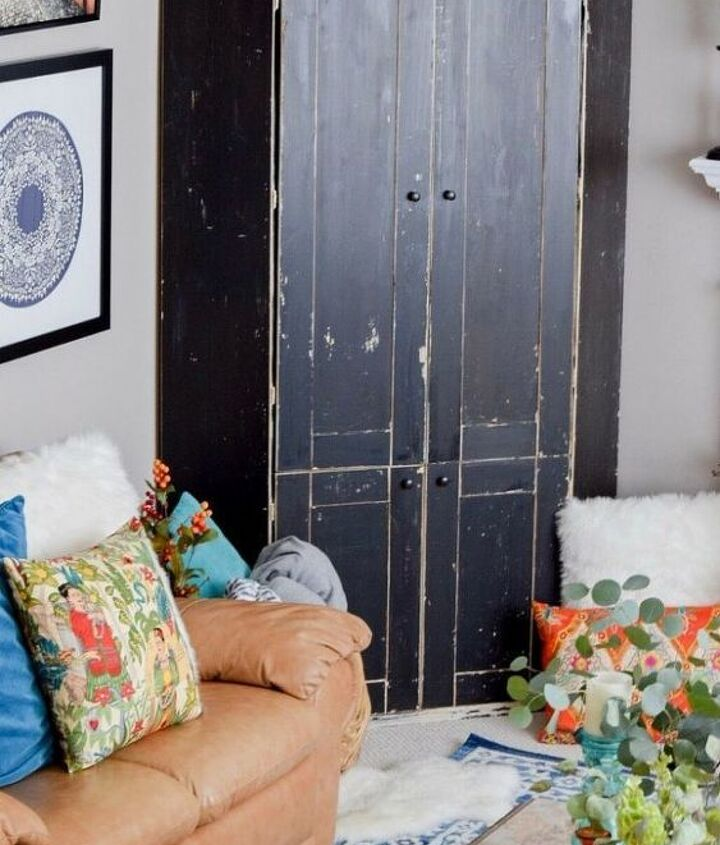 diy moroccan wood art from a cabinet door