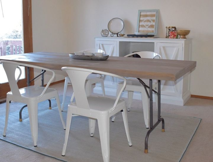 Turn a folding table into a dining table hometalk turn a folding table into a dining table workwithnaturefo