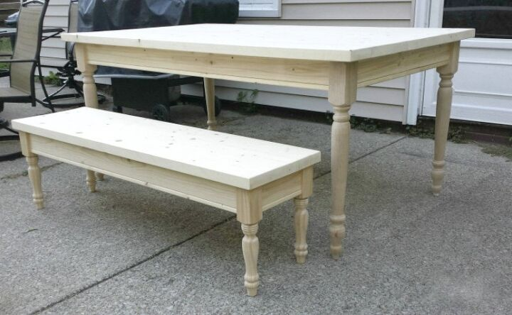 Diy Farmhouse Table Bench For 150 Tutorial How To Painted Furniture