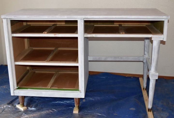up cycled desk with hardware