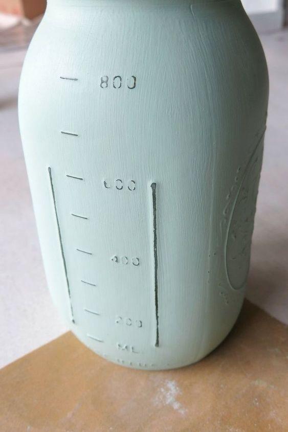 how to paint mason jar