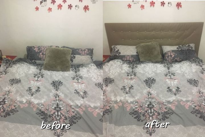 Easy Diy Upholstered Headboard I Had To Try It Out Hometalk