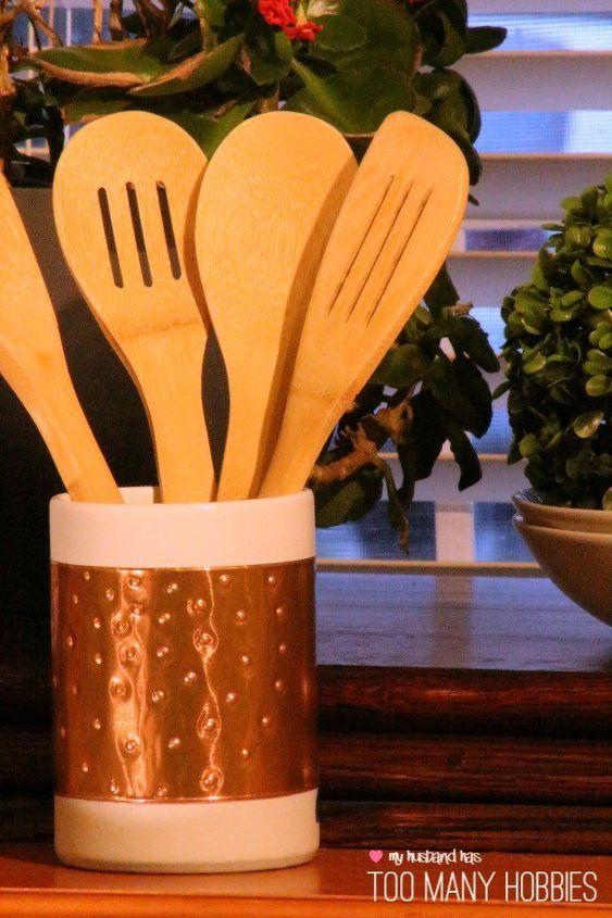 kitchen utensil holder makeover