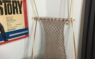 hanging macrame chair