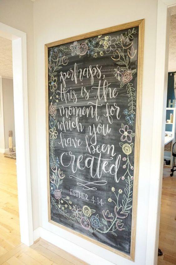 Framed Magnetic Chalkboard DIY | Hometalk