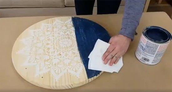 how to craft a diy tray using a mandala stencil