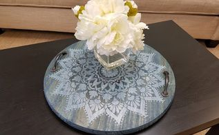 how to craft a diy tray using a mandala stencil