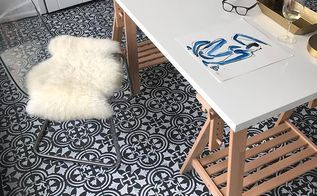 how to diy a tile floor for less than 100 using stencils
