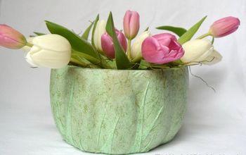 spring fabric floral vase