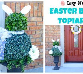 Easy Diy Easter Bunny Topiaries Hometalk