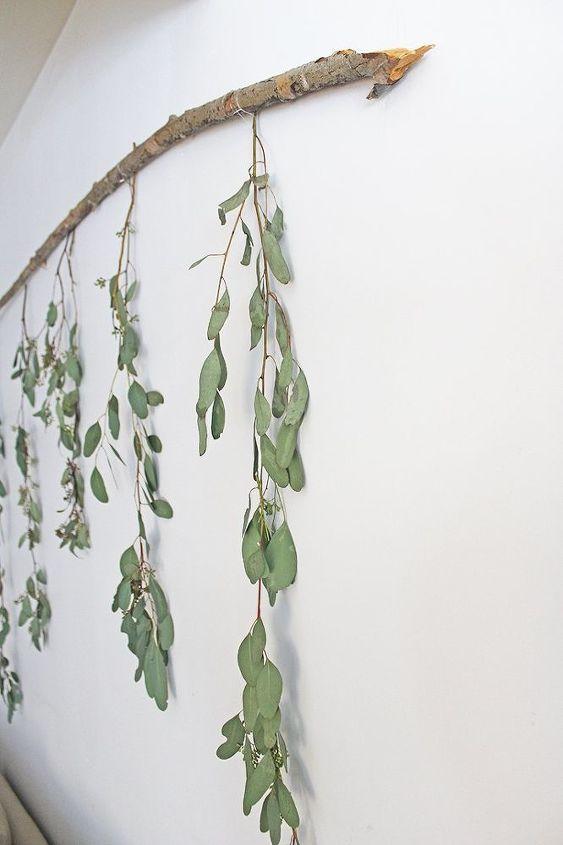 diy branch wall decor