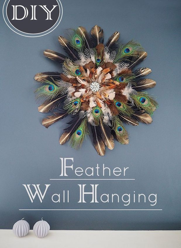 diy feather wall hanging, animals, appliance repair, appliances,  architecture, basement ideas