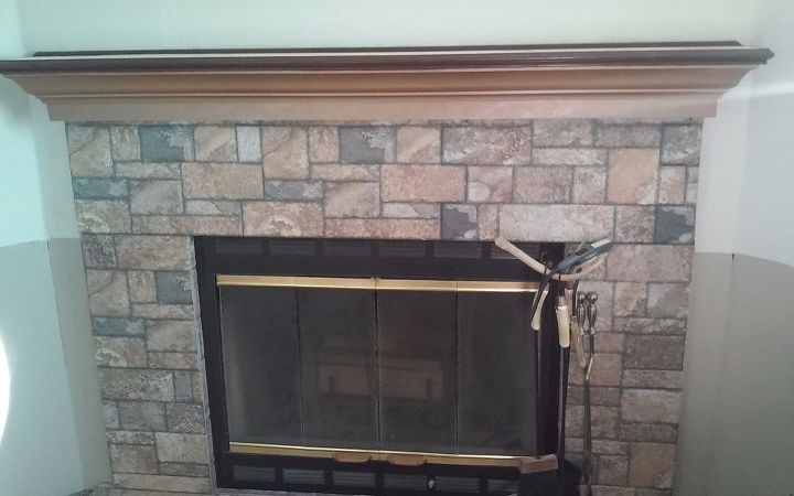 q fireplace mantle