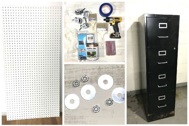 filing cabinet turned garage organization
