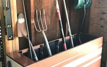Filing Cabinet-Turned-Garage Organization