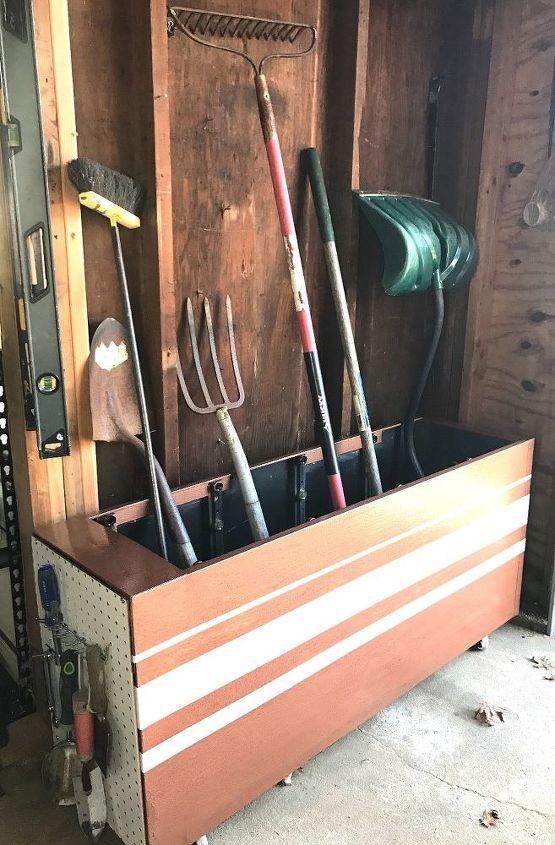 filing cabinet turned garage organization