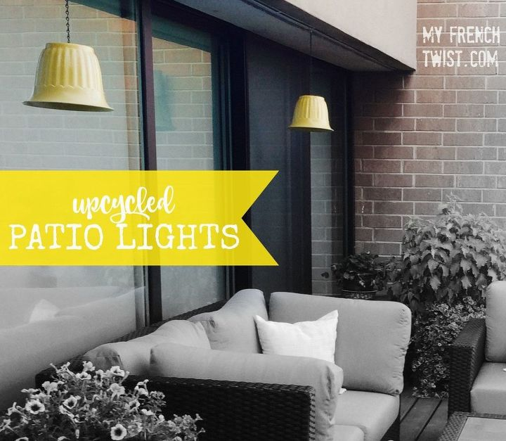 upcycled patio lights
