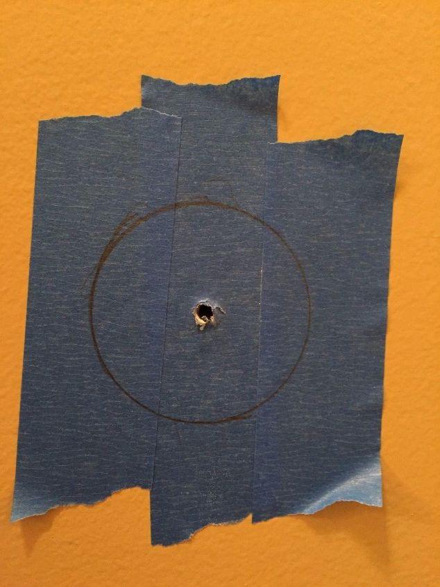 Guard mount screw hole.