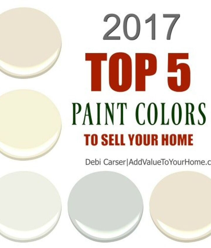 2017 top 5 paint colors to sell your home