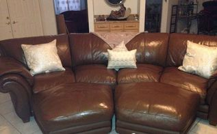leather couch makeover