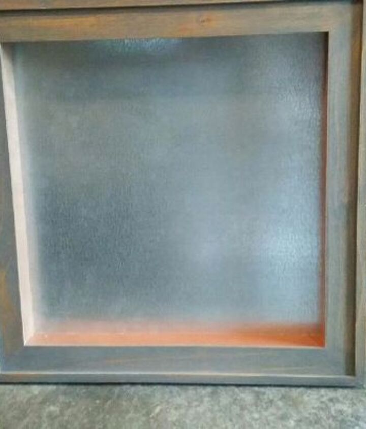 Frame with a piece of galvanized steel behind
