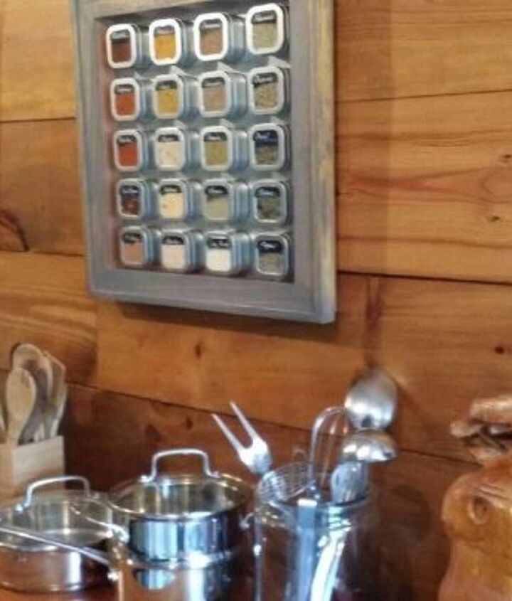 magnetic rustic spice racks upcycled recycled and nearly free